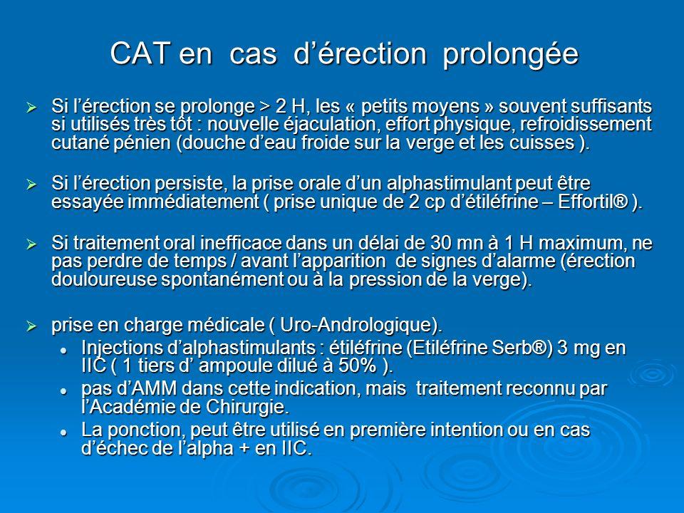 CAT en cas d'érection prolongée