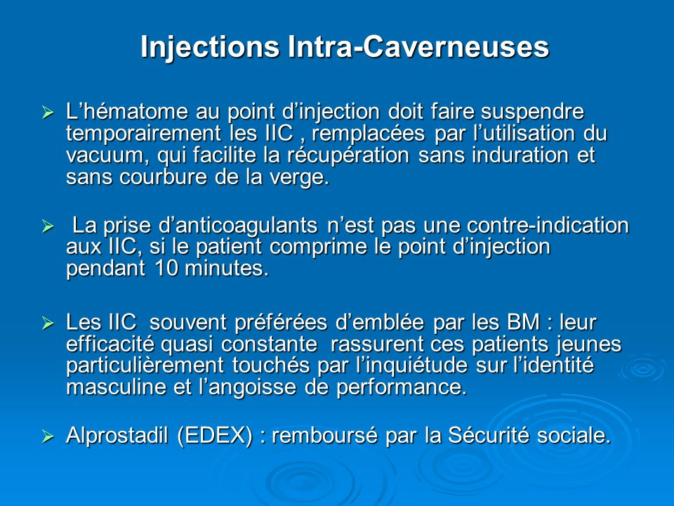 Injections Intra-Caverneuses