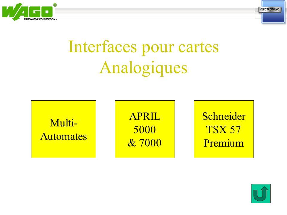 Interfaces pour cartes Analogiques