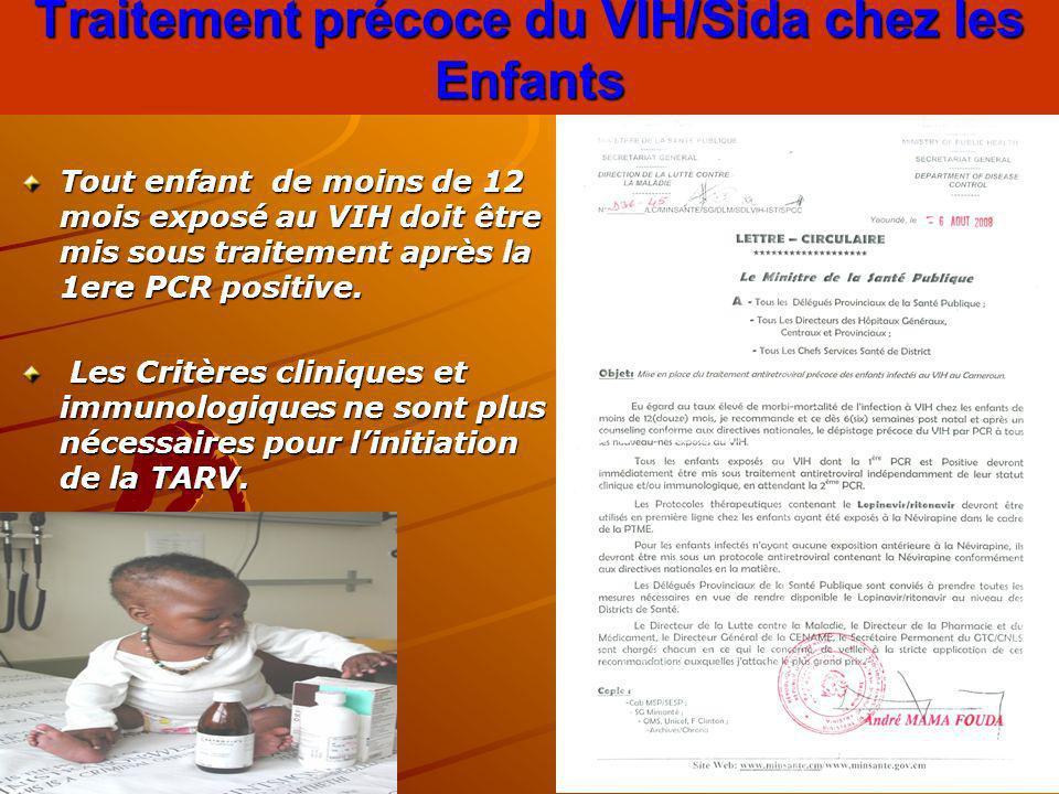 Traitement précoce du VIH/Sida chez les Enfants
