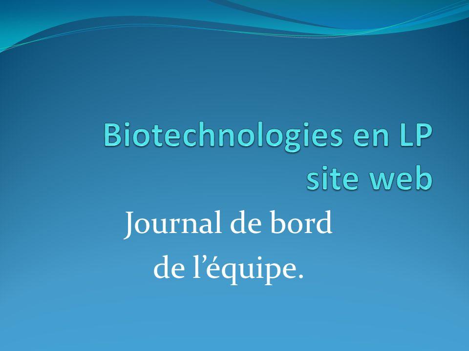 Biotechnologies en LP site web