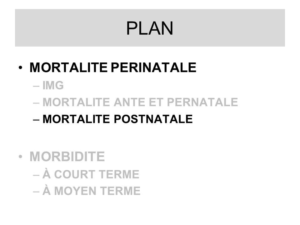 PLAN MORTALITE PERINATALE MORBIDITE IMG MORTALITE ANTE ET PERNATALE