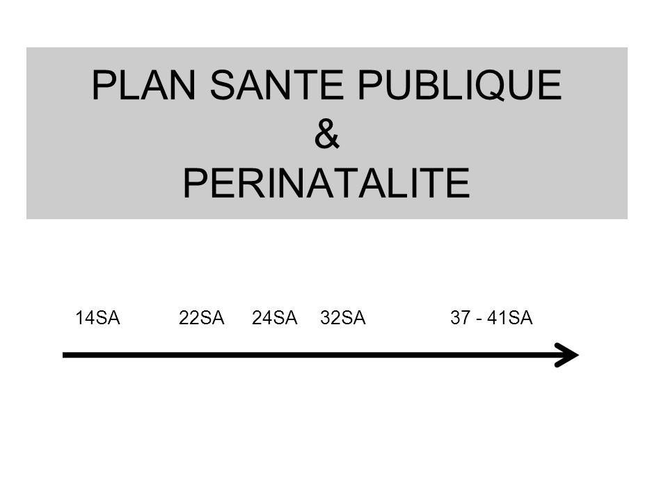 PLAN SANTE PUBLIQUE & PERINATALITE