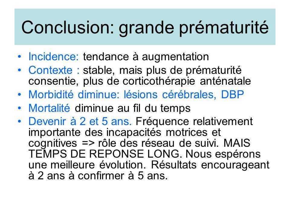 Conclusion: grande prématurité