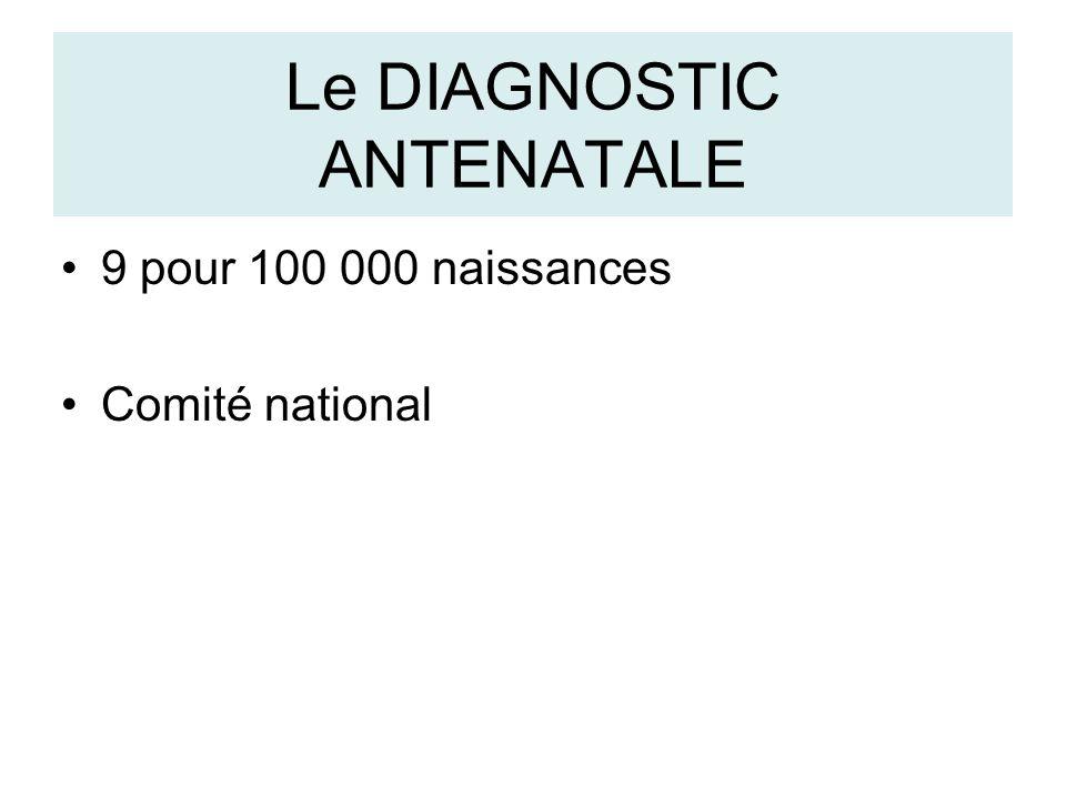 Le DIAGNOSTIC ANTENATALE