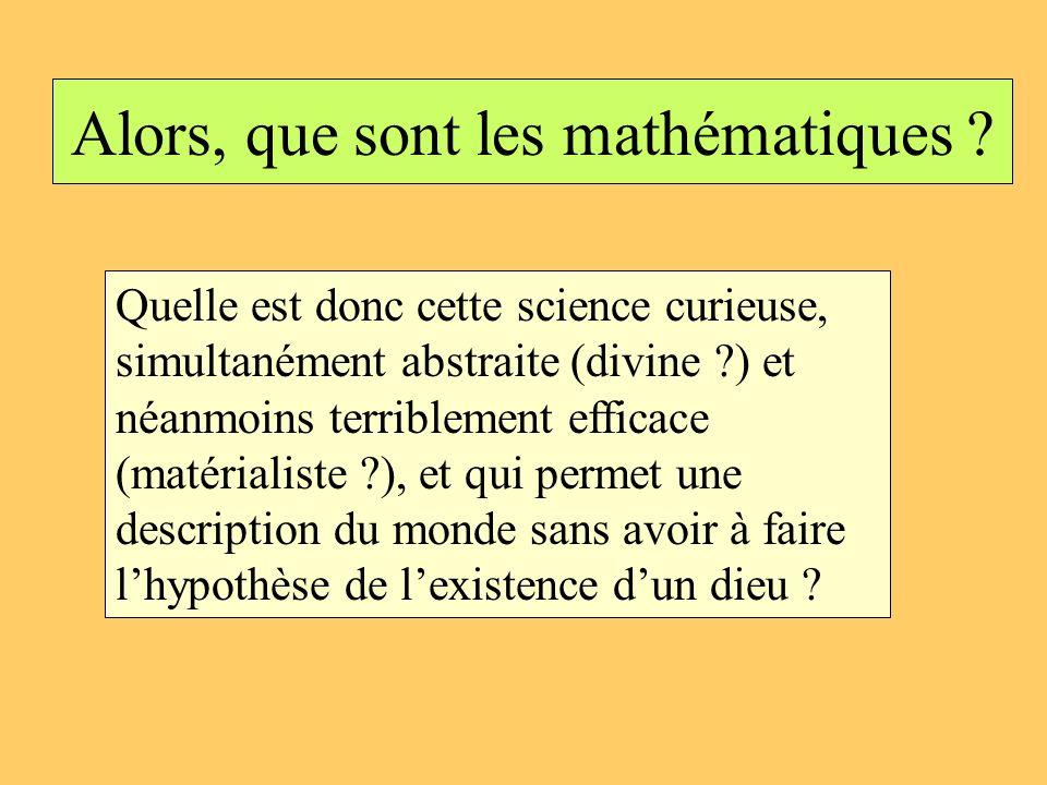 Alors, que sont les mathématiques