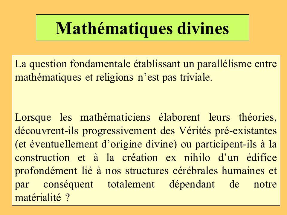 Mathématiques divines
