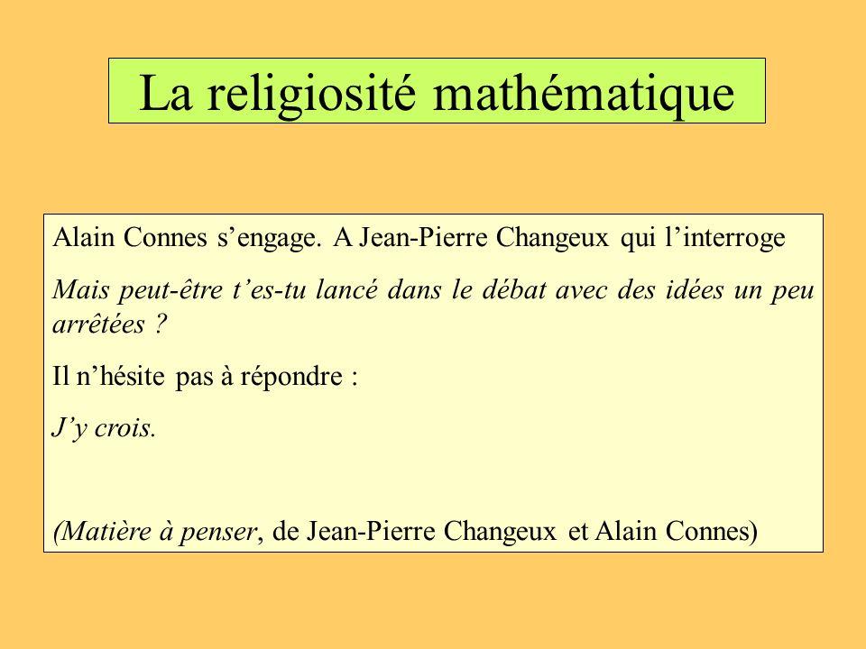 La religiosité mathématique