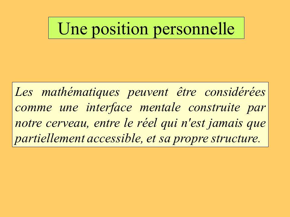 Une position personnelle