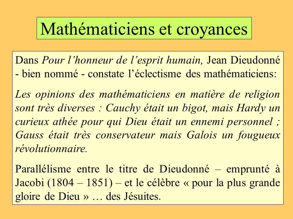 Mathématiciens et croyances