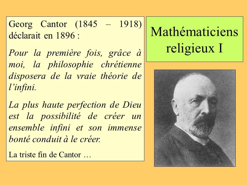 Mathématiciens religieux I