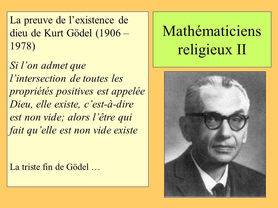 Mathématiciens religieux II