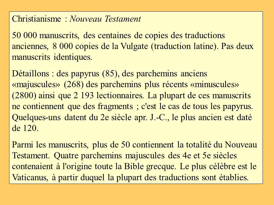 Christianisme : Nouveau Testament