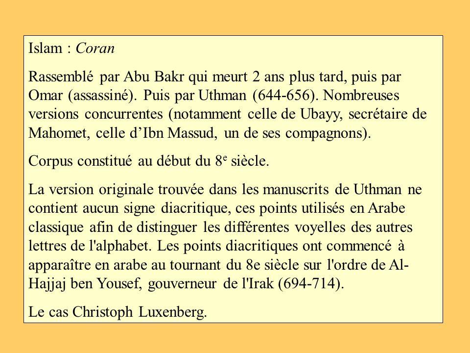 Islam : Coran