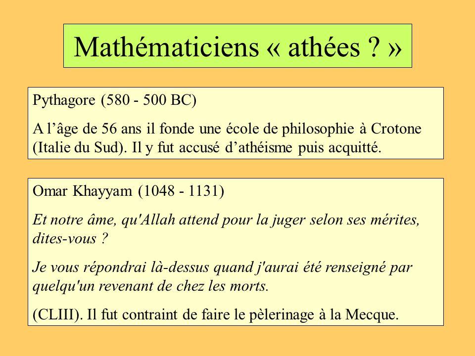 Mathématiciens « athées »