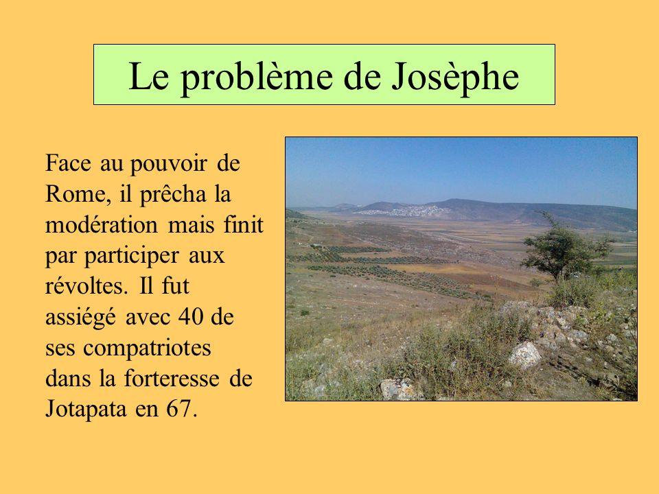 Le problème de Josèphe