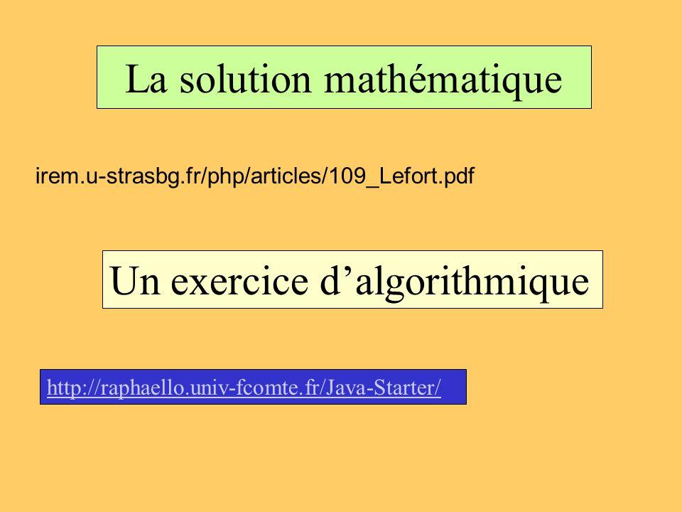 La solution mathématique