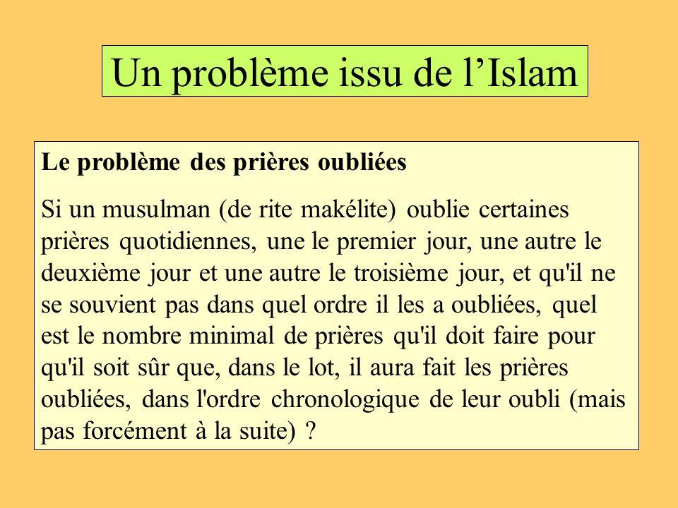 Un problème issu de l'Islam