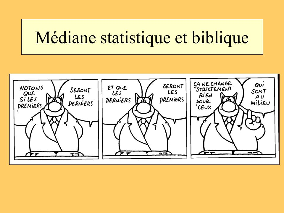 Médiane statistique et biblique