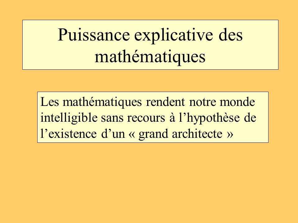 Puissance explicative des mathématiques