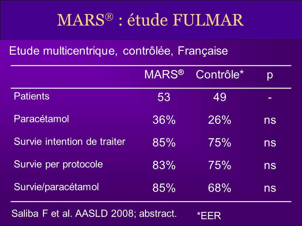 MARS : étude FULMAR Etude multicentrique, contrôlée, Française MARS®