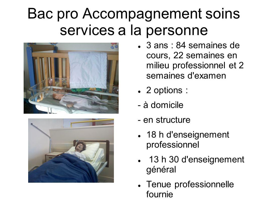 Bac pro Accompagnement soins services a la personne