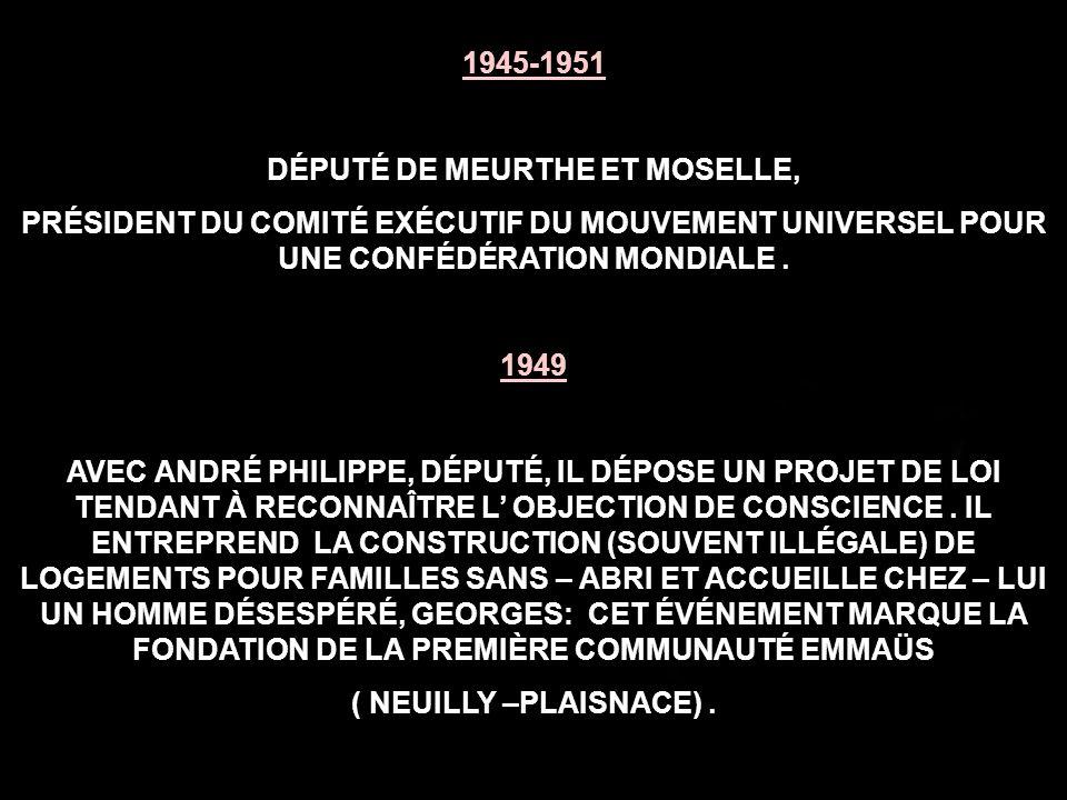 DÉPUTÉ DE MEURTHE ET MOSELLE,