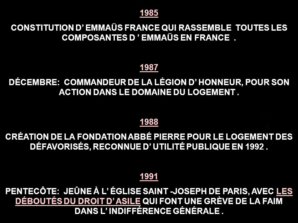 1985 CONSTITUTION D' EMMAÜS FRANCE QUI RASSEMBLE TOUTES LES COMPOSANTES D ' EMMAÜS EN FRANCE . 1987.