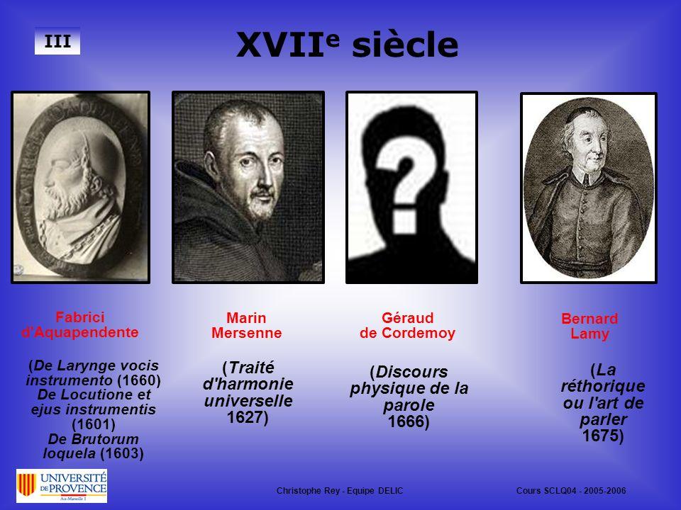 XVIIe siècle III (Traité d harmonie universelle 1627)