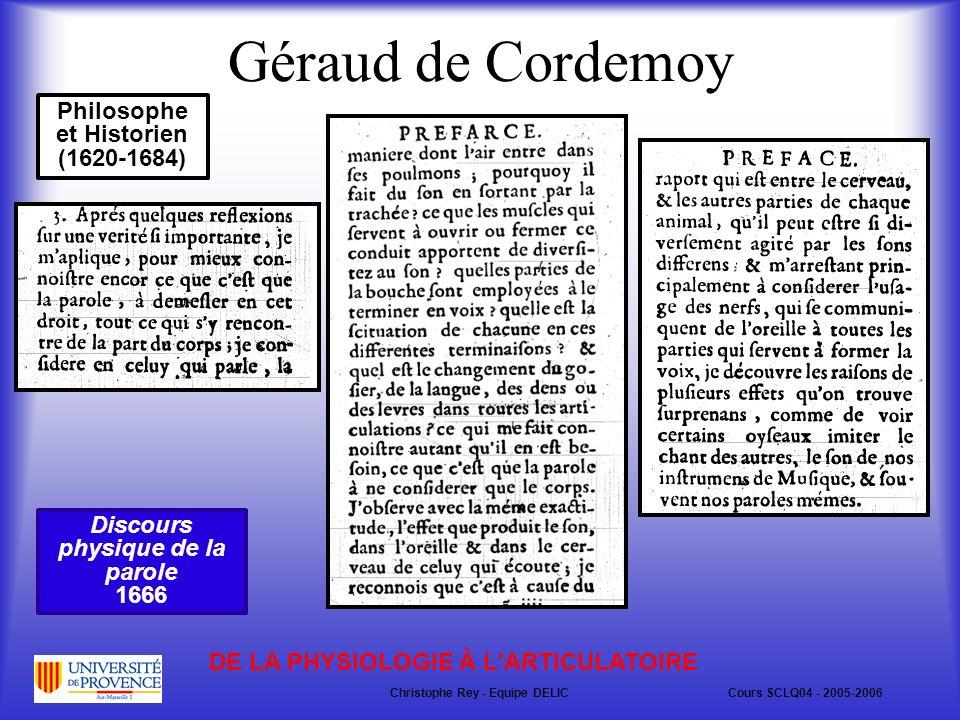 Géraud de Cordemoy Philosophe et Historien (1620-1684)