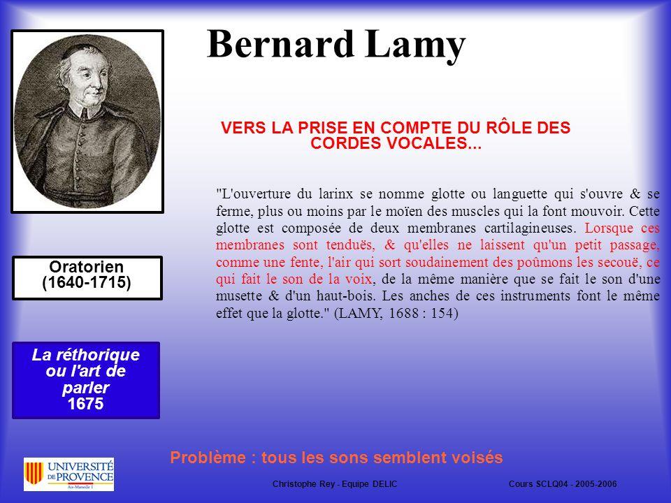 Bernard Lamy VERS LA PRISE EN COMPTE DU RÔLE DES CORDES VOCALES...