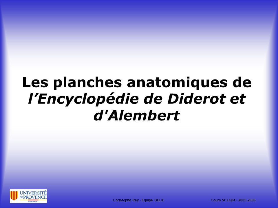 Les planches anatomiques de l'Encyclopédie de Diderot et d Alembert