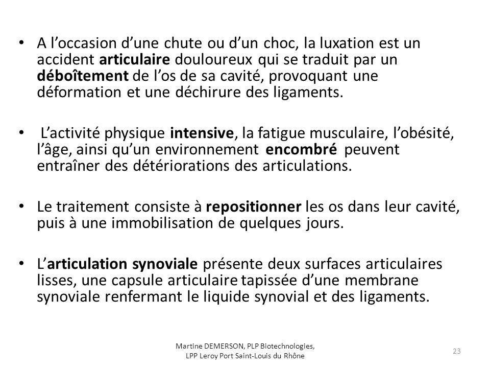 A l'occasion d'une chute ou d'un choc, la luxation est un accident articulaire douloureux qui se traduit par un déboîtement de l'os de sa cavité, provoquant une déformation et une déchirure des ligaments.