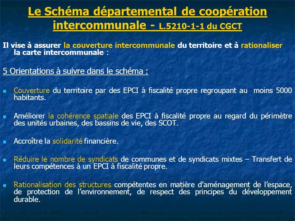 Le Schéma départemental de coopération intercommunale - L