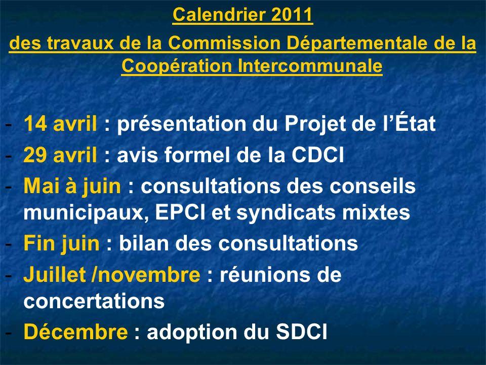 14 avril : présentation du Projet de l'État
