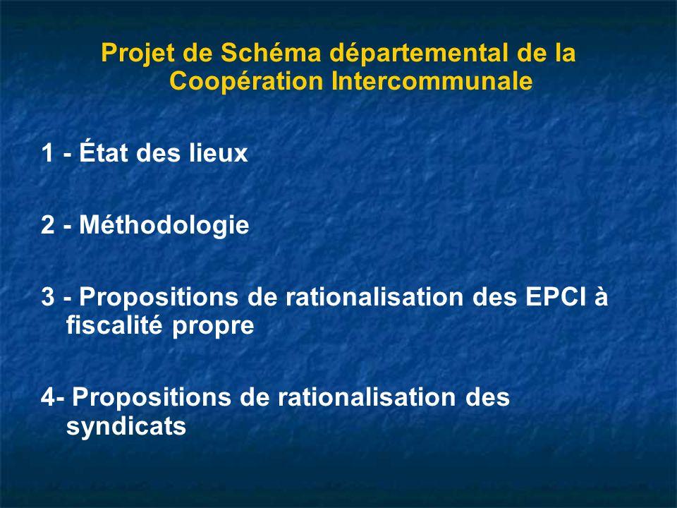 Projet de Schéma départemental de la Coopération Intercommunale