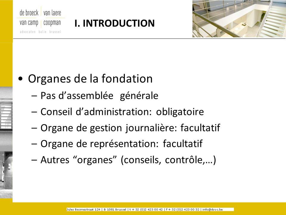 Organes de la fondation