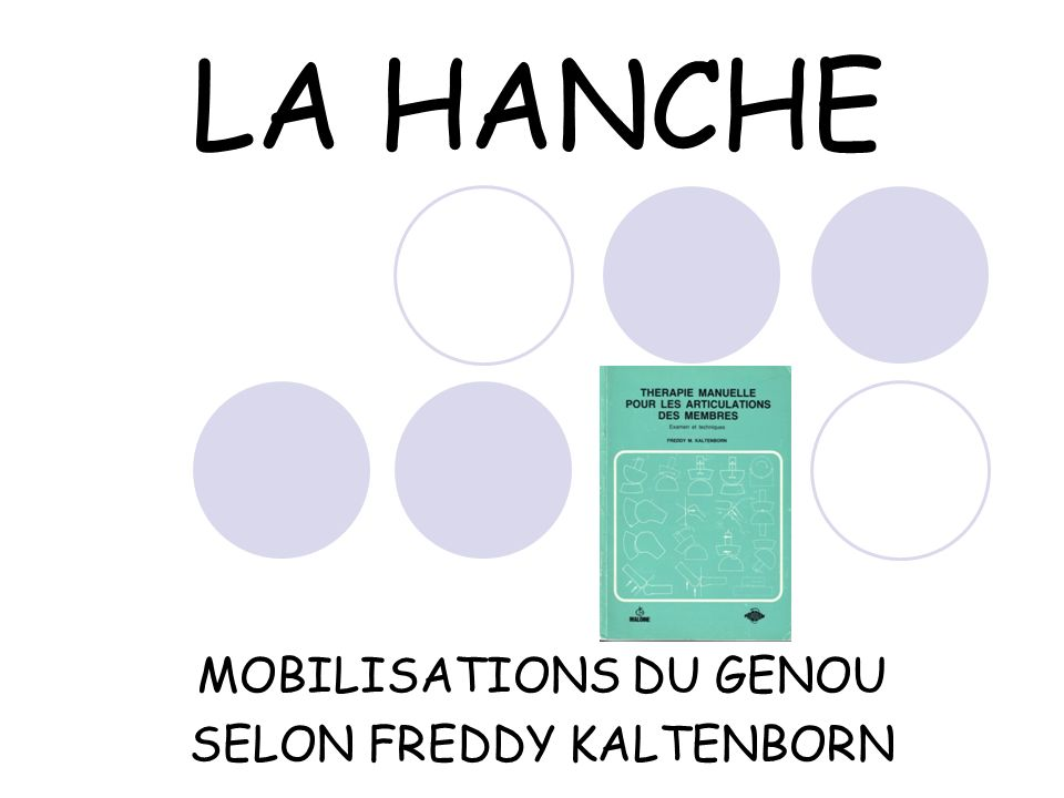 MOBILISATIONS DU GENOU SELON FREDDY KALTENBORN