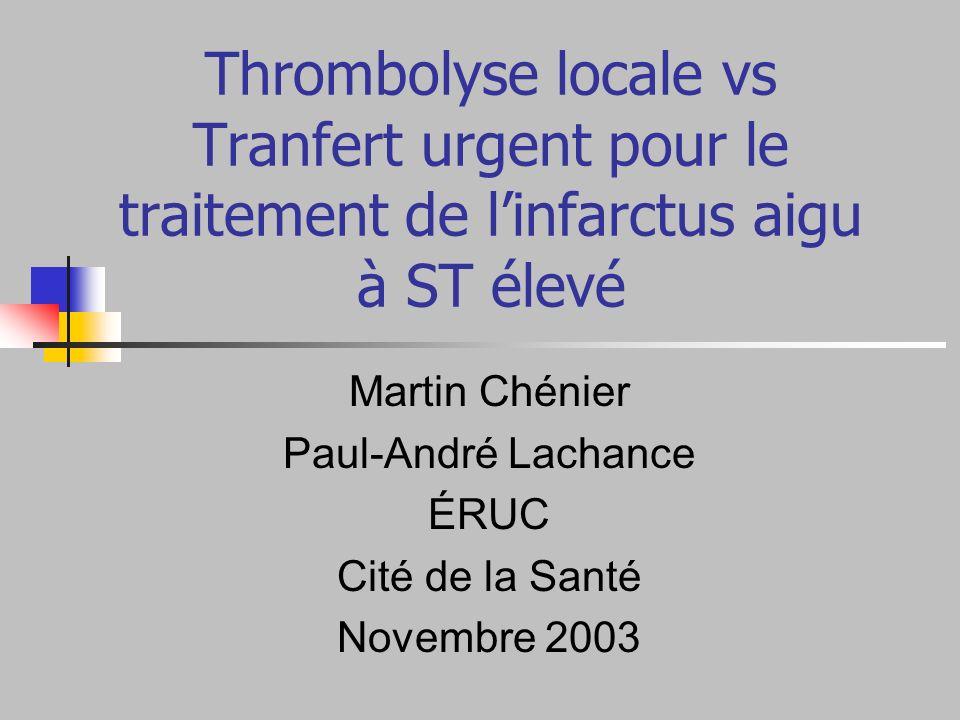 Martin Chénier Paul-André Lachance ÉRUC Cité de la Santé Novembre 2003