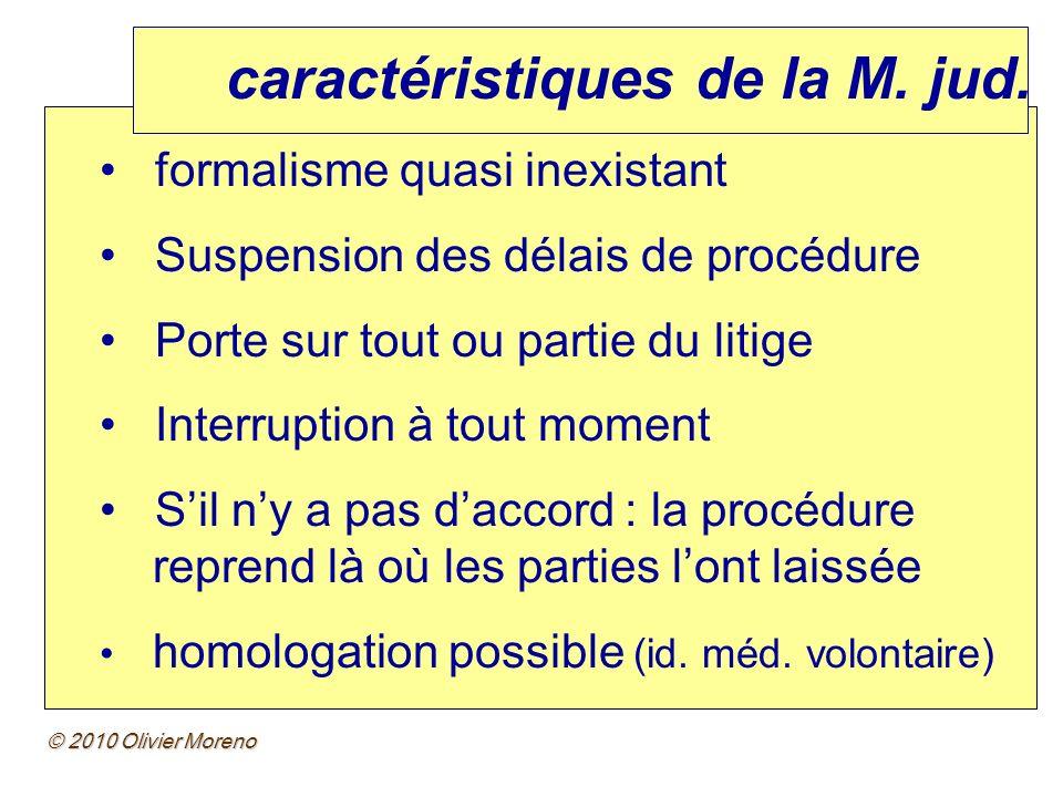 caractéristiques de la M. jud.