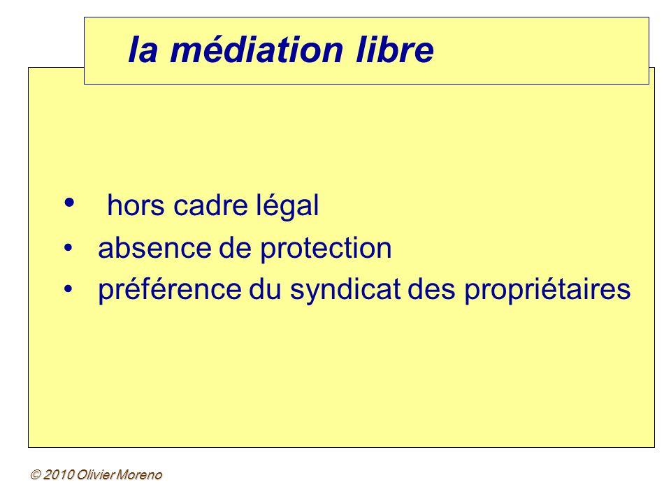la médiation libre hors cadre légal absence de protection