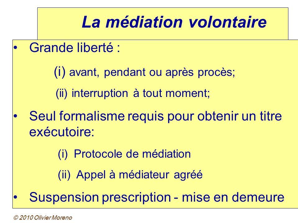 La médiation volontaire