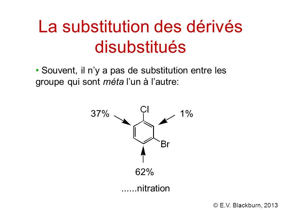 La substitution des dérivés disubstitués