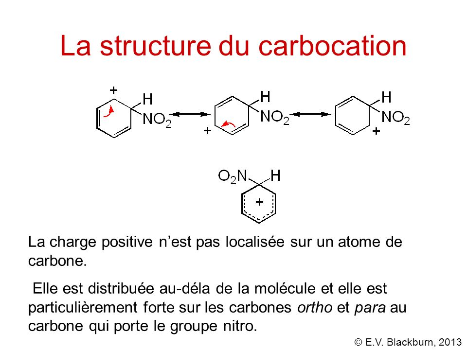 La structure du carbocation