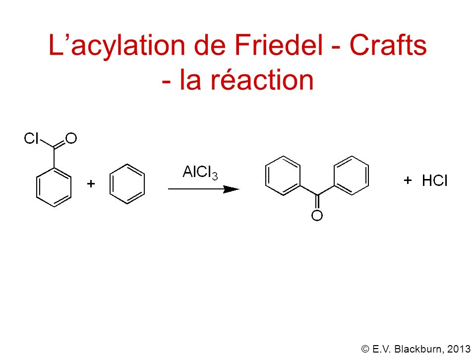 L'acylation de Friedel - Crafts - la réaction
