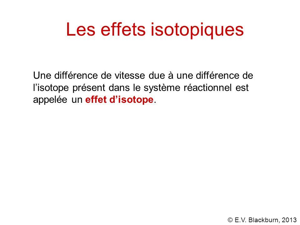 Les effets isotopiques