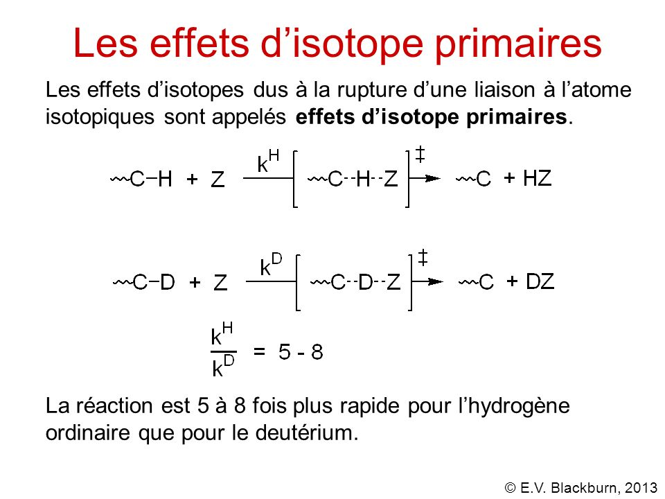 Les effets d'isotope primaires