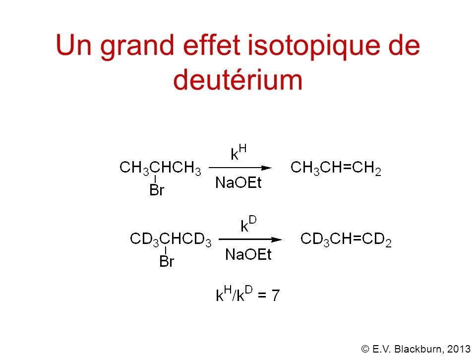 Un grand effet isotopique de deutérium