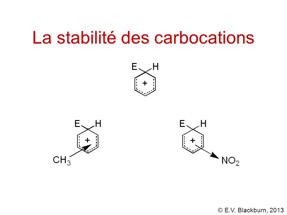 La stabilité des carbocations