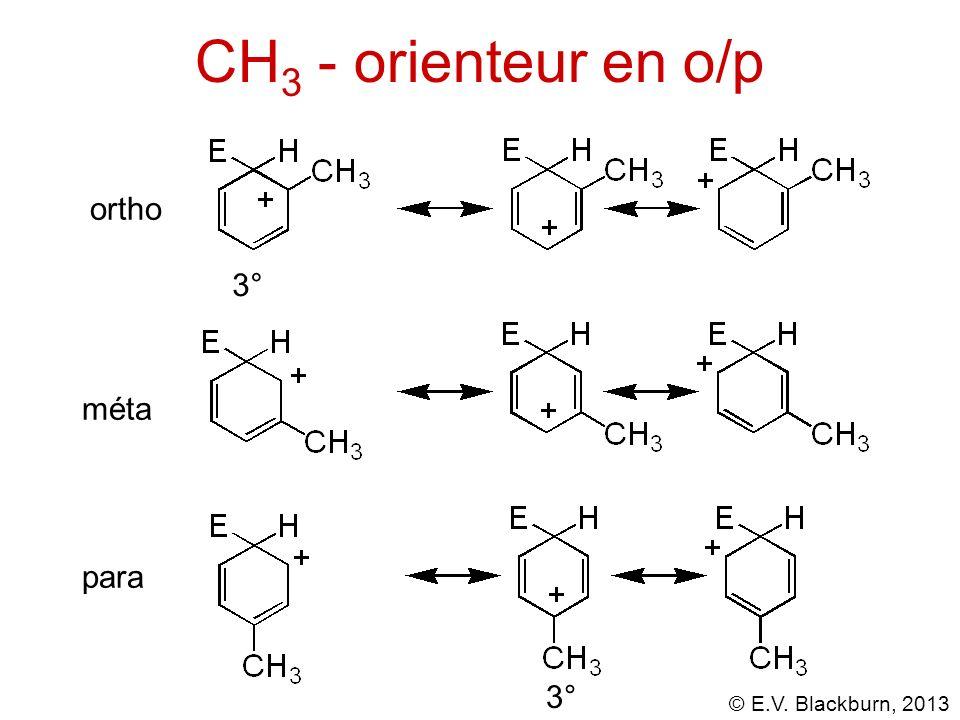 CH3 - orienteur en o/p ortho 3° méta para 3°